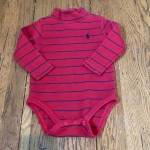 Ralph Lauren Polo Baby Boy 12mo turtleneck onesie